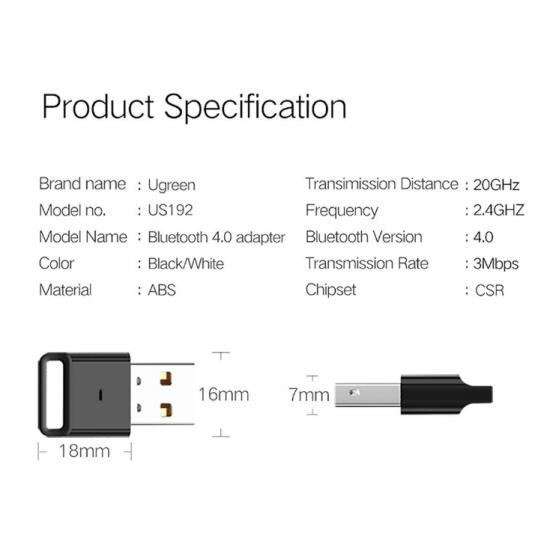 USB Phát Bluetooth Cho Laptop và PC Cao Cấp UGREEN US192